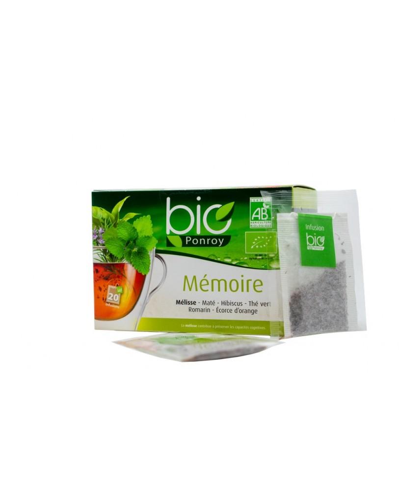 Ekologiška arbata Bio Ponroy Infusion memoire (atminčiai – vertimas iš prancūzų kalbos)