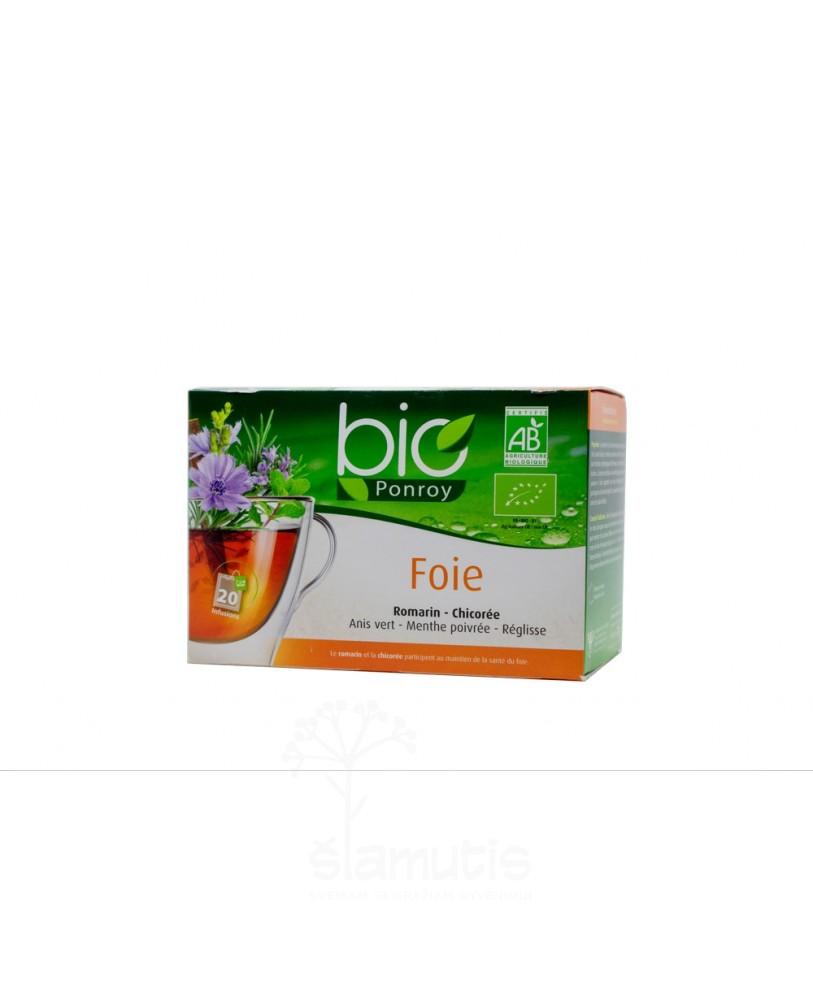 Ekologiška arbata Bio Ponroy Foie (kepenų funkcijai – vertimas iš prancūzų kalbos)