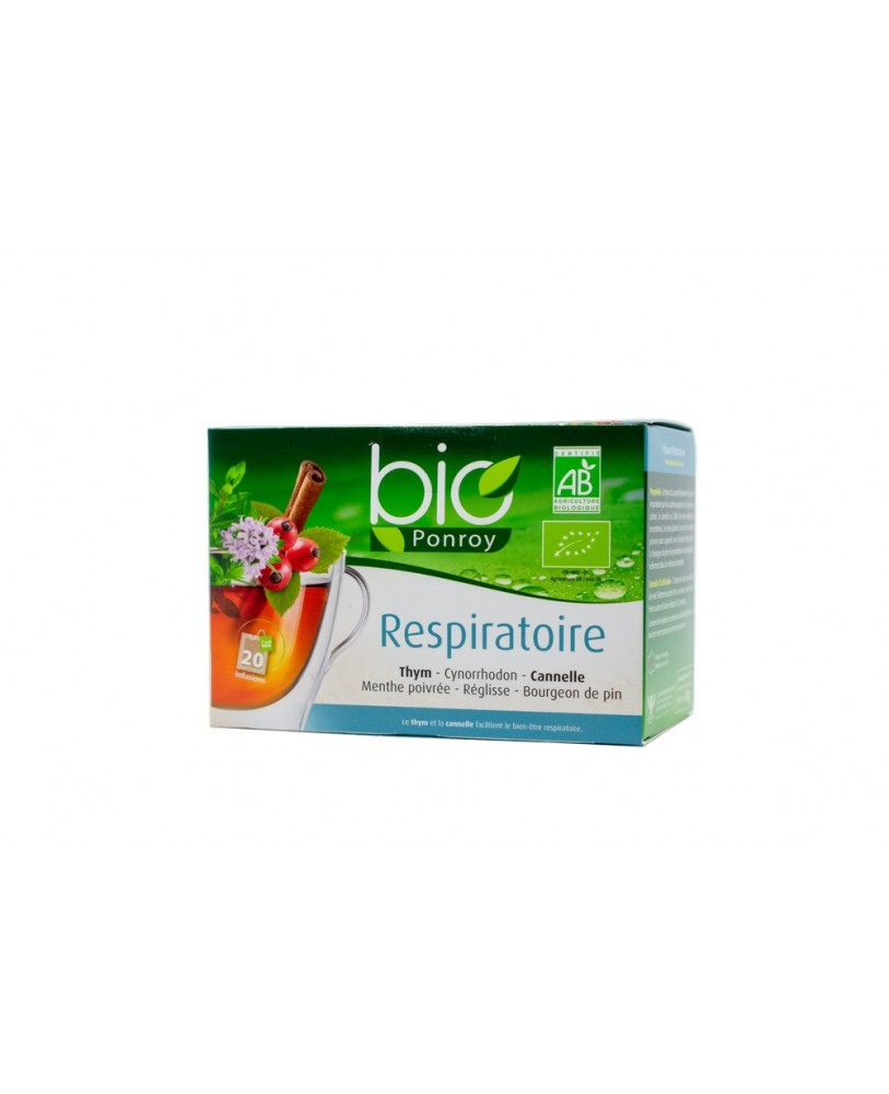 Ekologiška arbata Bio Ponroy Respiratoire (kvėpavimui – vertimas iš prancūzų kalbos)
