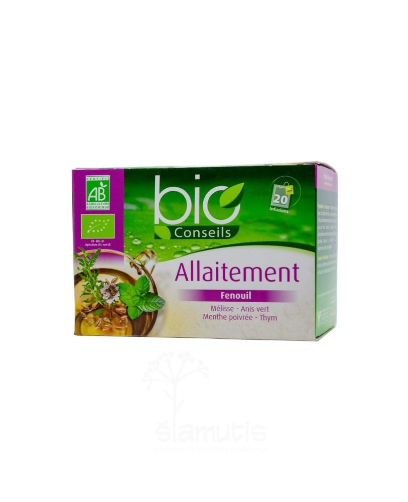 Ekologiška arbata Infusion Allaitement Bio (maitinančioms - vertimas iš prancūzų kalbos)