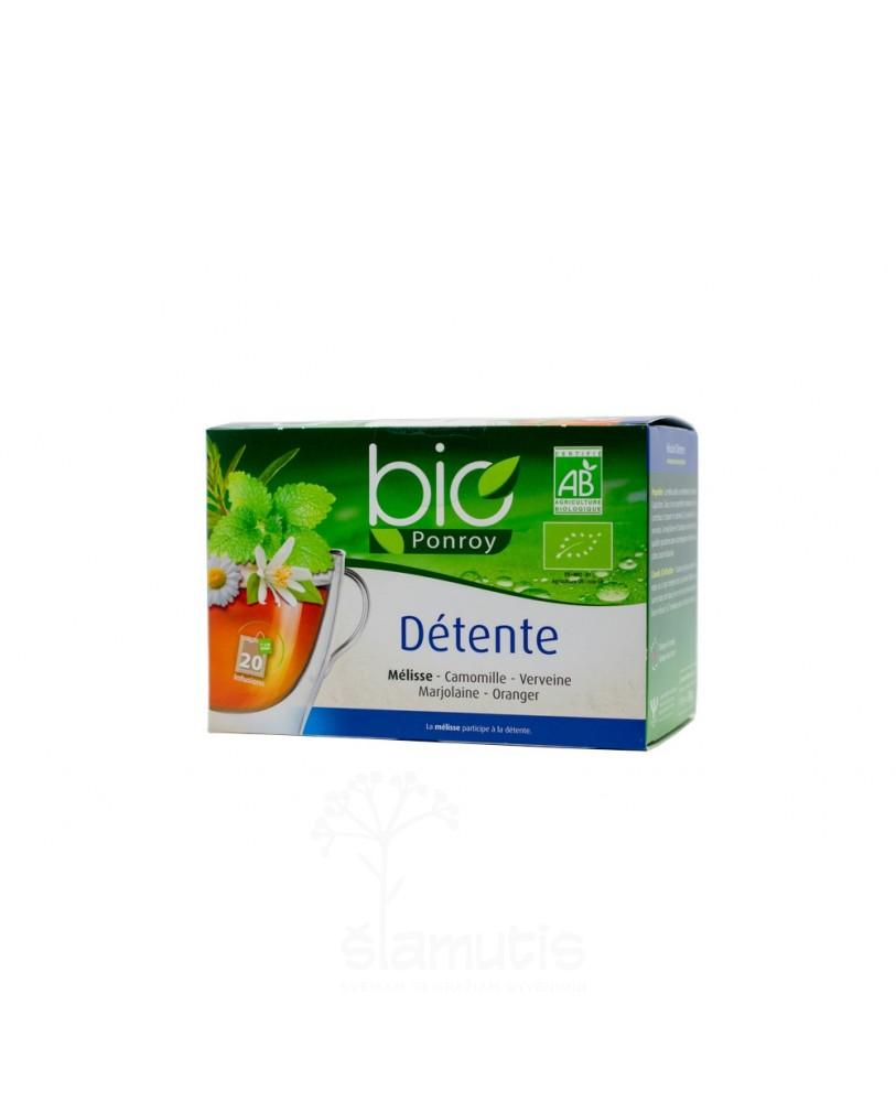 Ekologiška arbata Bio Ponroy Detente (atpalaidavimui – vertimas iš prancūzų kalbos)