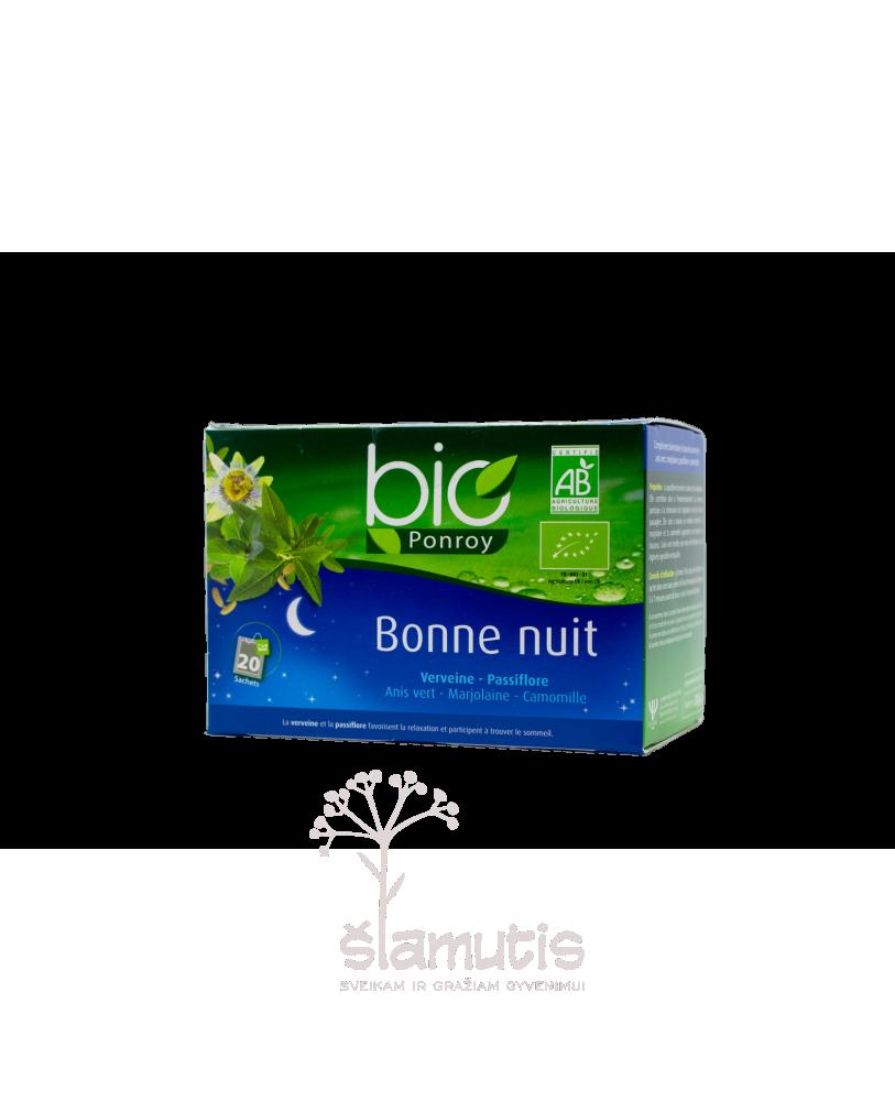 Ekologiška arbata Bio Ponroy Bonne Nuit  (sveikam miegui – vertimas iš prancūzų kalbos)