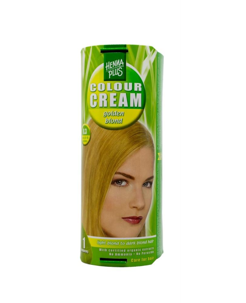 Hennaplus dažantis kremas Colour Cream spalva aukso blondinė 8.3