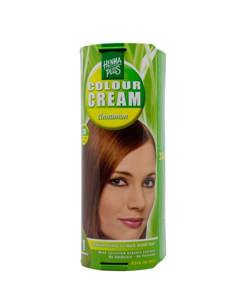 Hennaplus dažantis kremas Colour Cream spalva cinamono 7.38