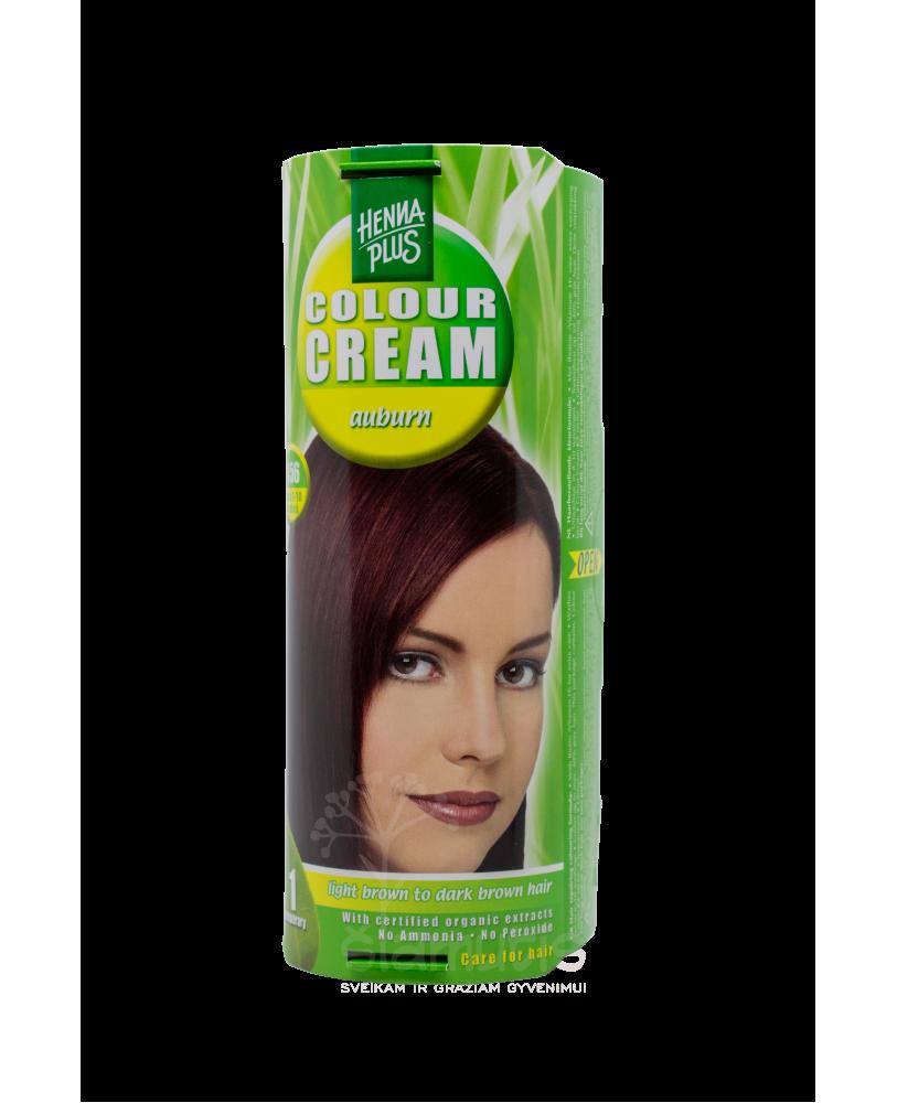 Hennaplus dažantis kremas Colour Cream spalva kaštono 4.56