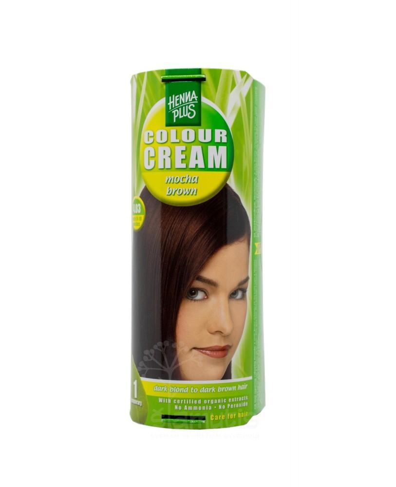 Hennaplus dažantis kremas Colour Cream spalva kavos ruda 4.03