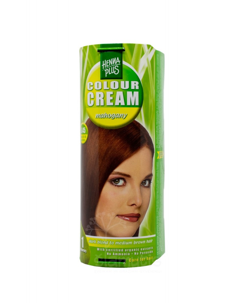Hennaplus dažantis kremas Colour Cream spalva raudonmedžio 6.45