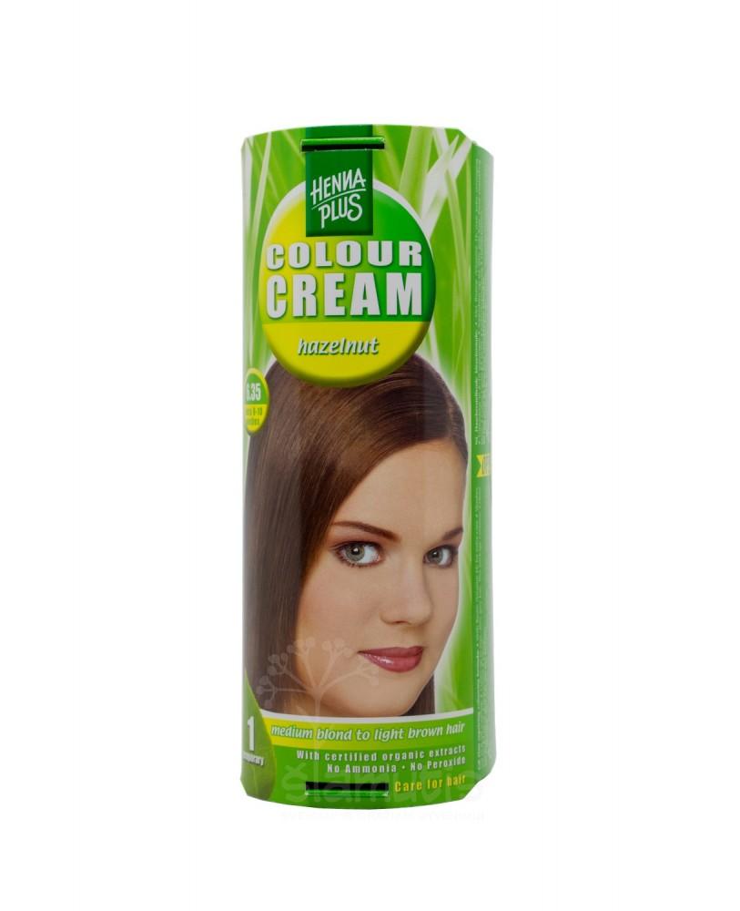 Hennaplus dažantis kremas Colour Cream spalva riešuto 6.35