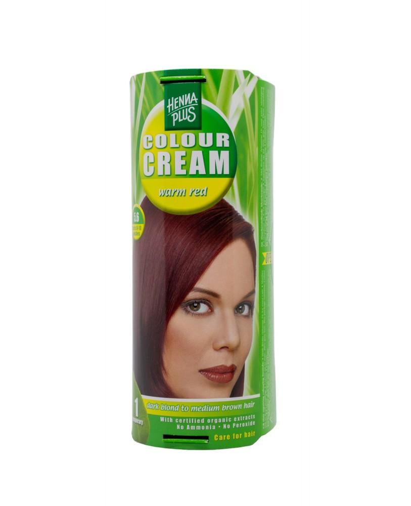 Hennaplus dažantis kremas Colour Cream spalva šilta raudona 5.6