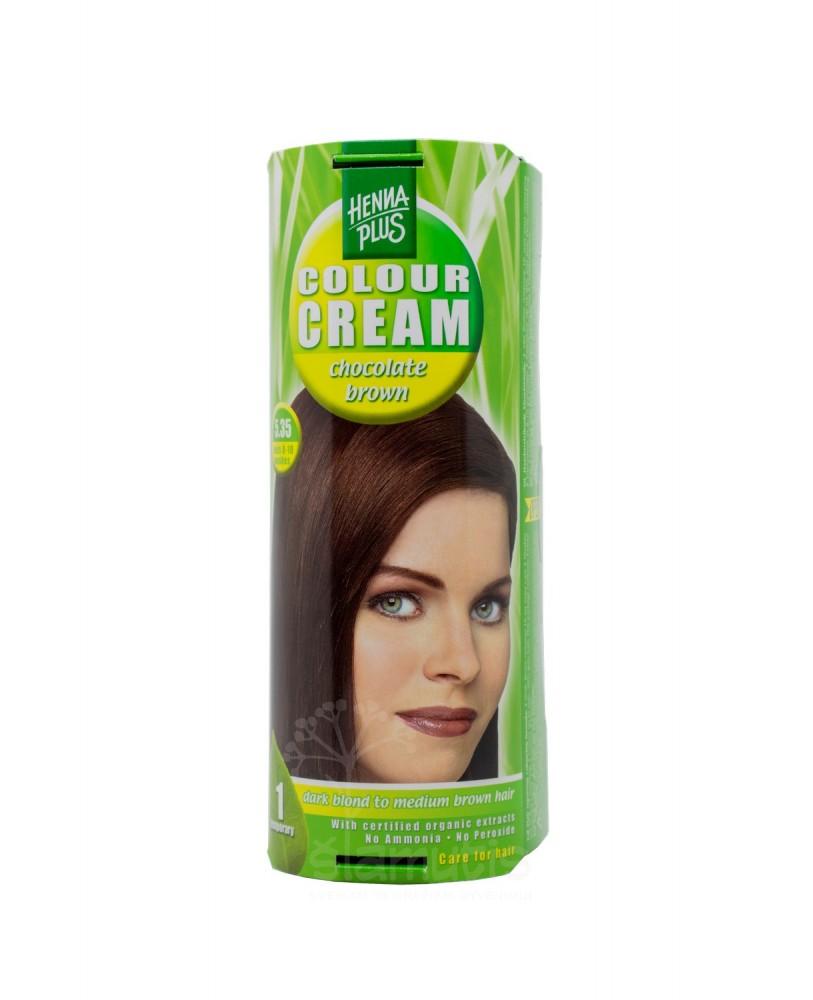 Hennaplus dažantis kremas Colour Cream spalva šokolado ruda 5.35