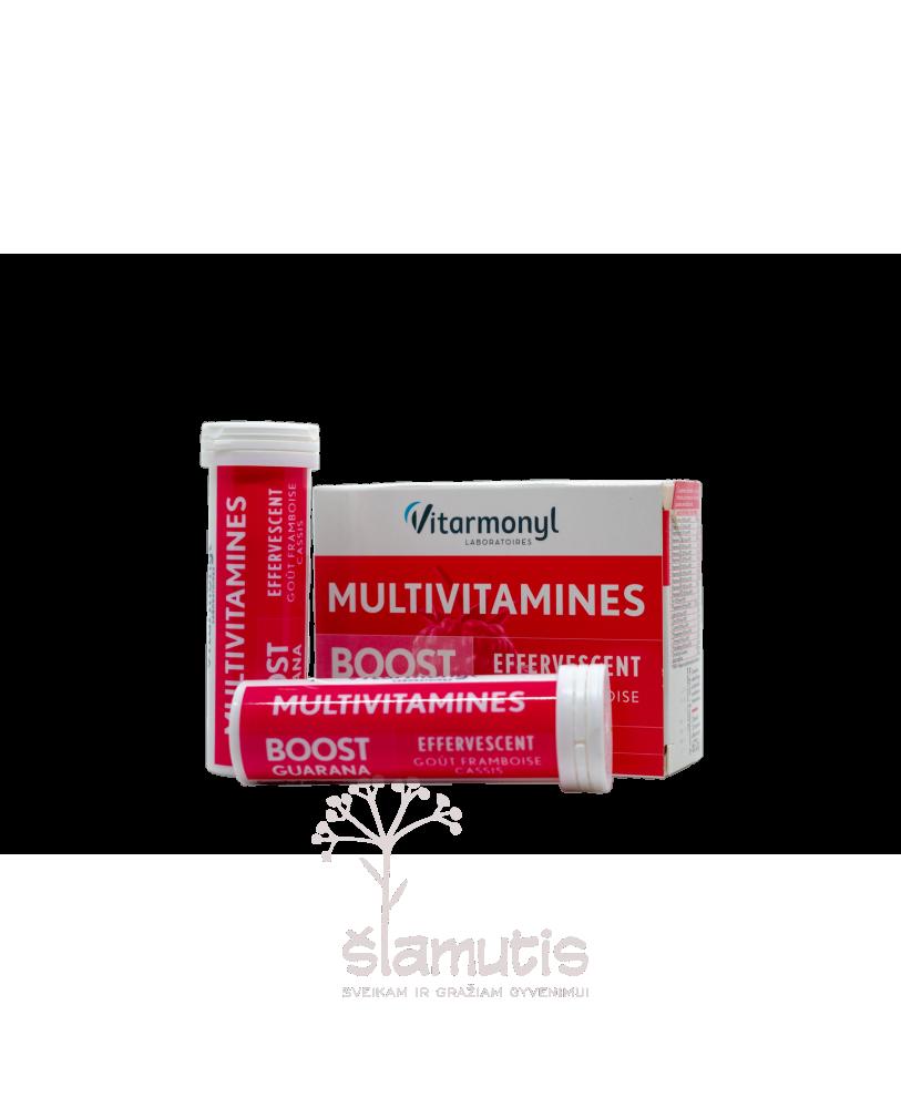 YVES PONROY Gvaraninės paulinijos ekstraktas+12 multivitaminų + 8 mikroelementai, tirpdomos tabletės, maisto papildas