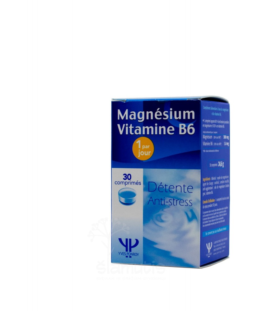 Magnis + vitaminas B6