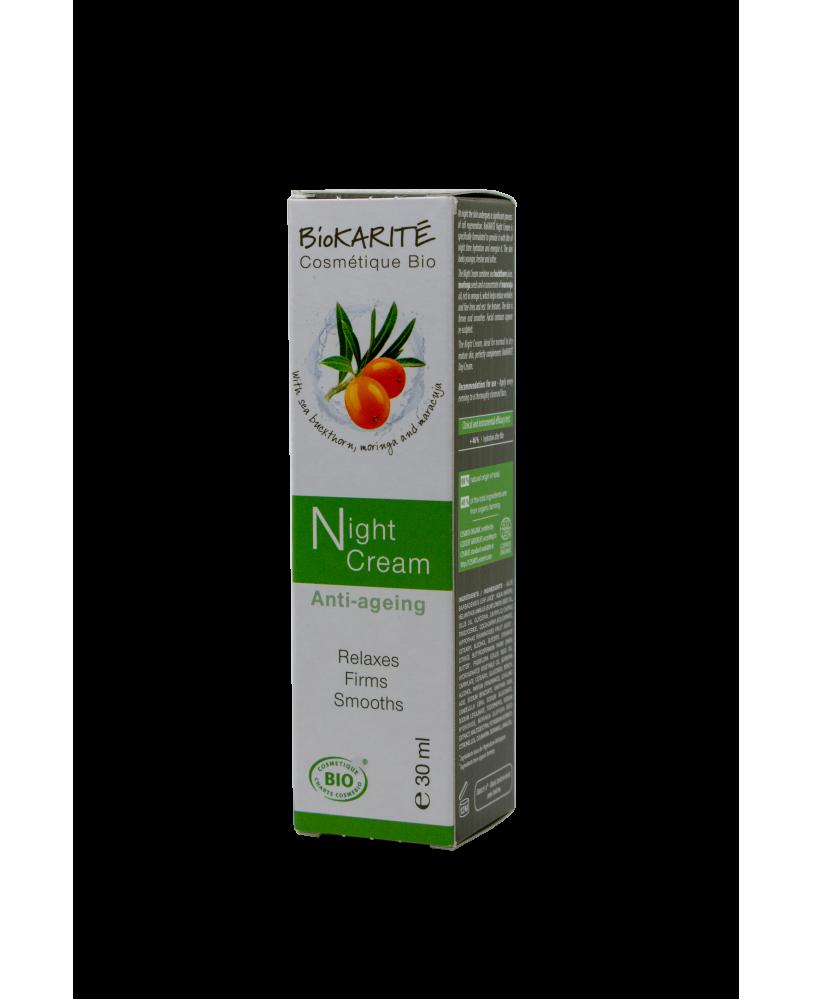 BioKARITE Cosmetique Bio Naktinis kremas ekologiškas