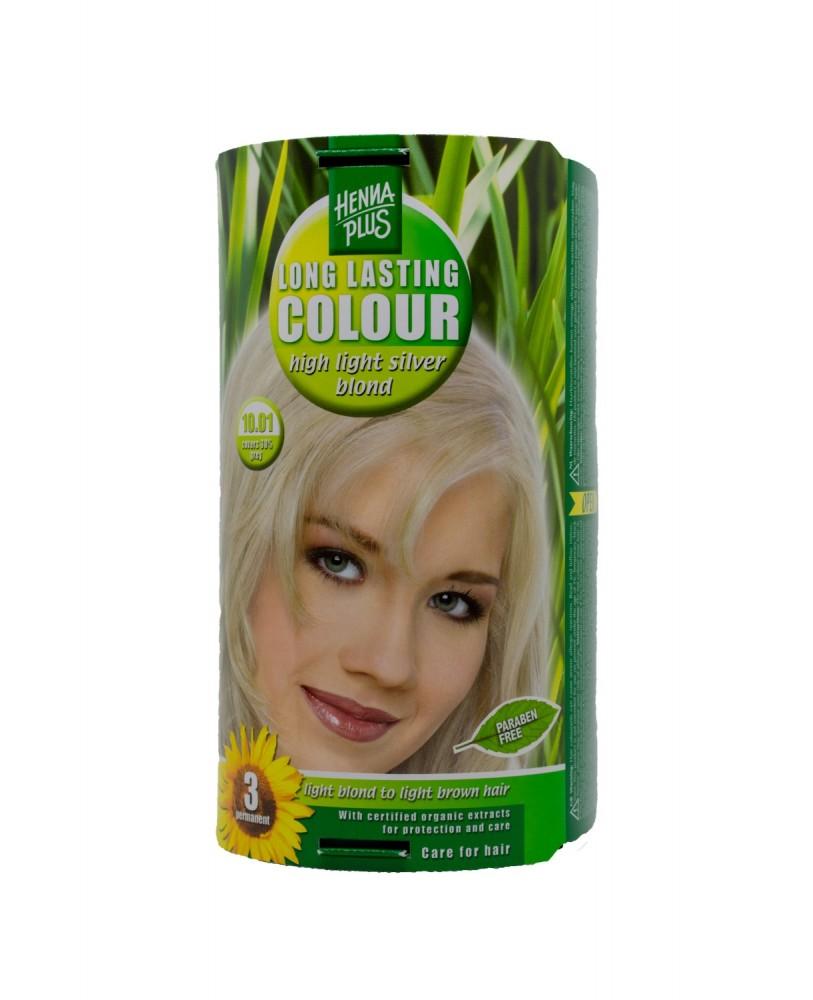 Hennaplus  plaukų dažai ilgalaikiai spalva labai šviesi pelenų blondinė 10.01