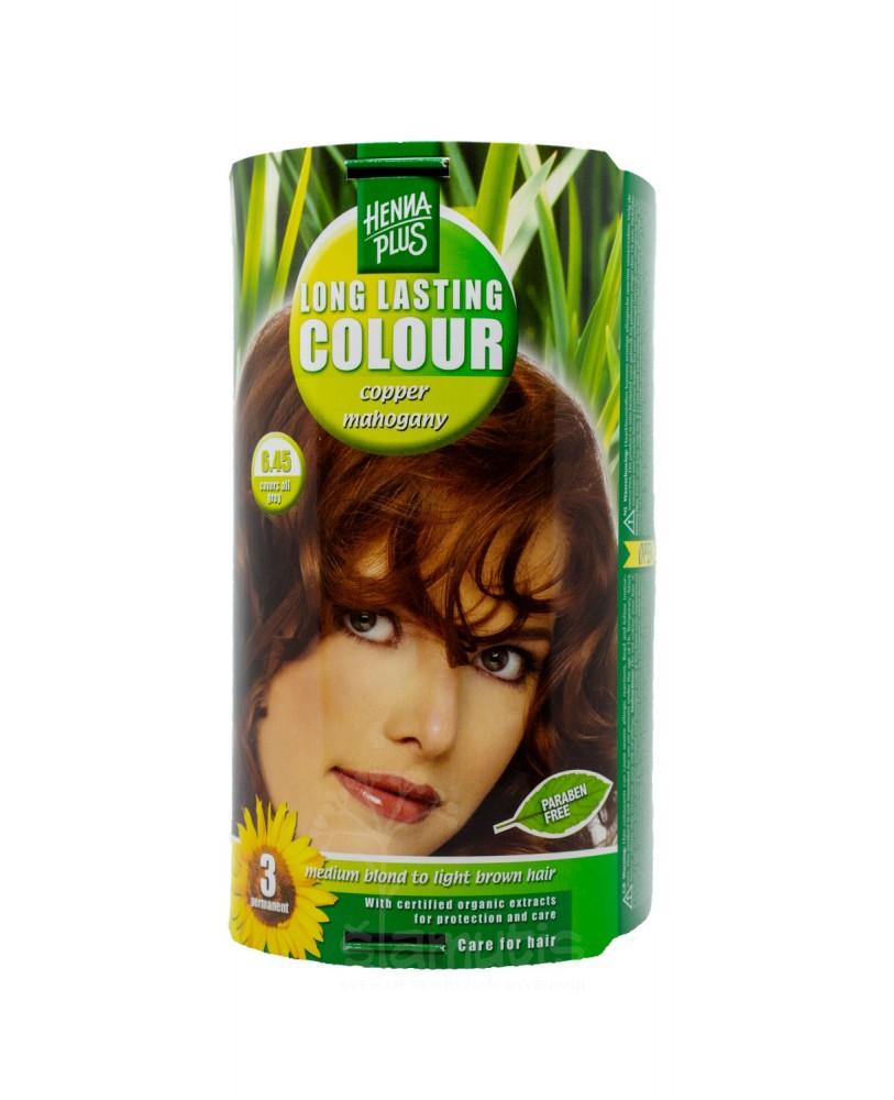 Hennaplus plaukų dažai ilgalaikiai spalva raudonmedžio varinė 6.45
