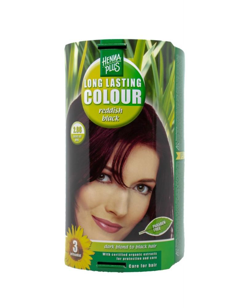 Hennaplus plaukų dažai ilgalaikiai spalva rausvai juoda 2.66