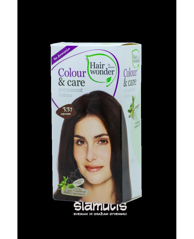 Plaukų dažai be amoniako  Colour & Care spalva espresso 3.37