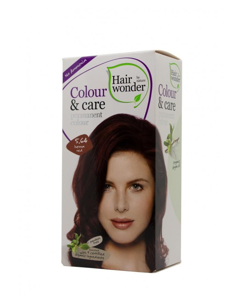 Plaukų dažai be amoniako Colour & Care spalva henna raudona 5.64