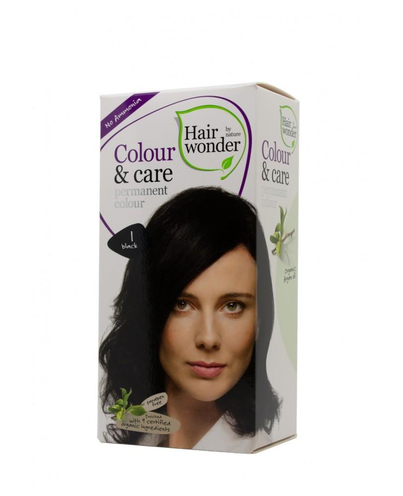 Plaukų dažai be amoniako Colour & Care  spalva juoda 1