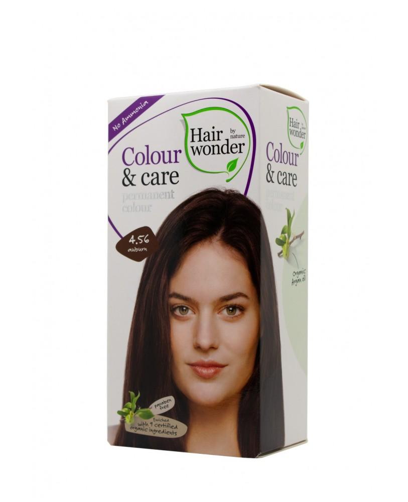 Plaukų dažai be amoniako  Colour & Care spalva kaštono 4.56