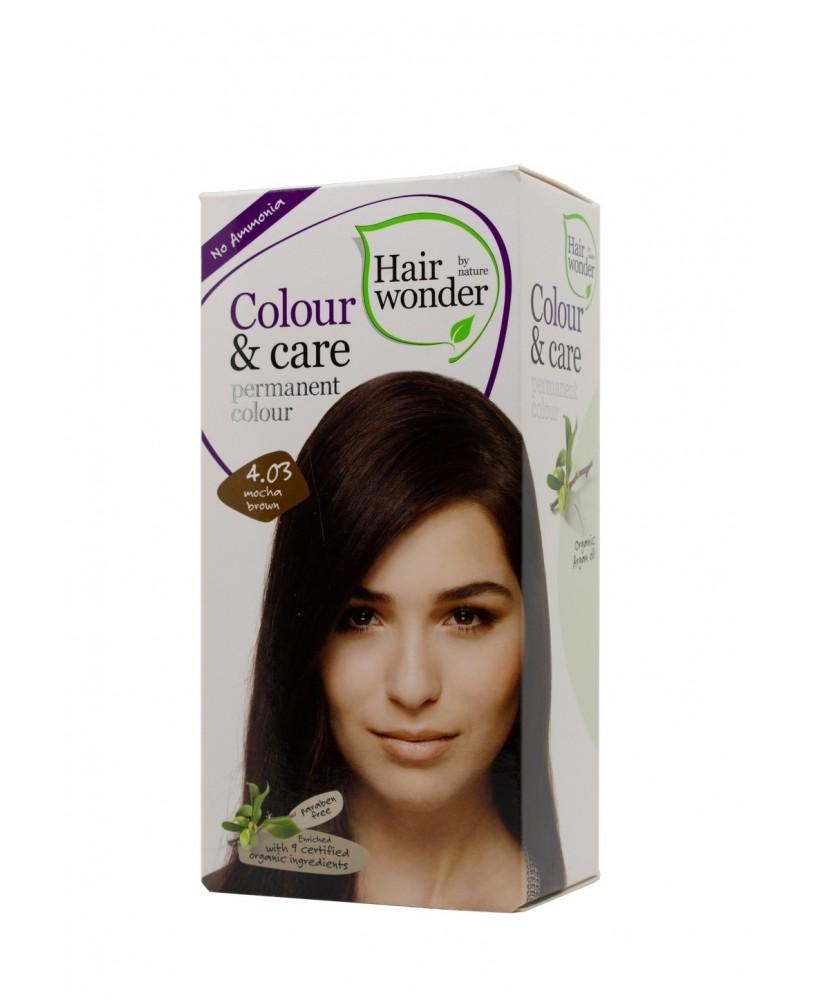 Plaukų dažai be amoniako  Colour & Care spalva kavos ruda 4.03