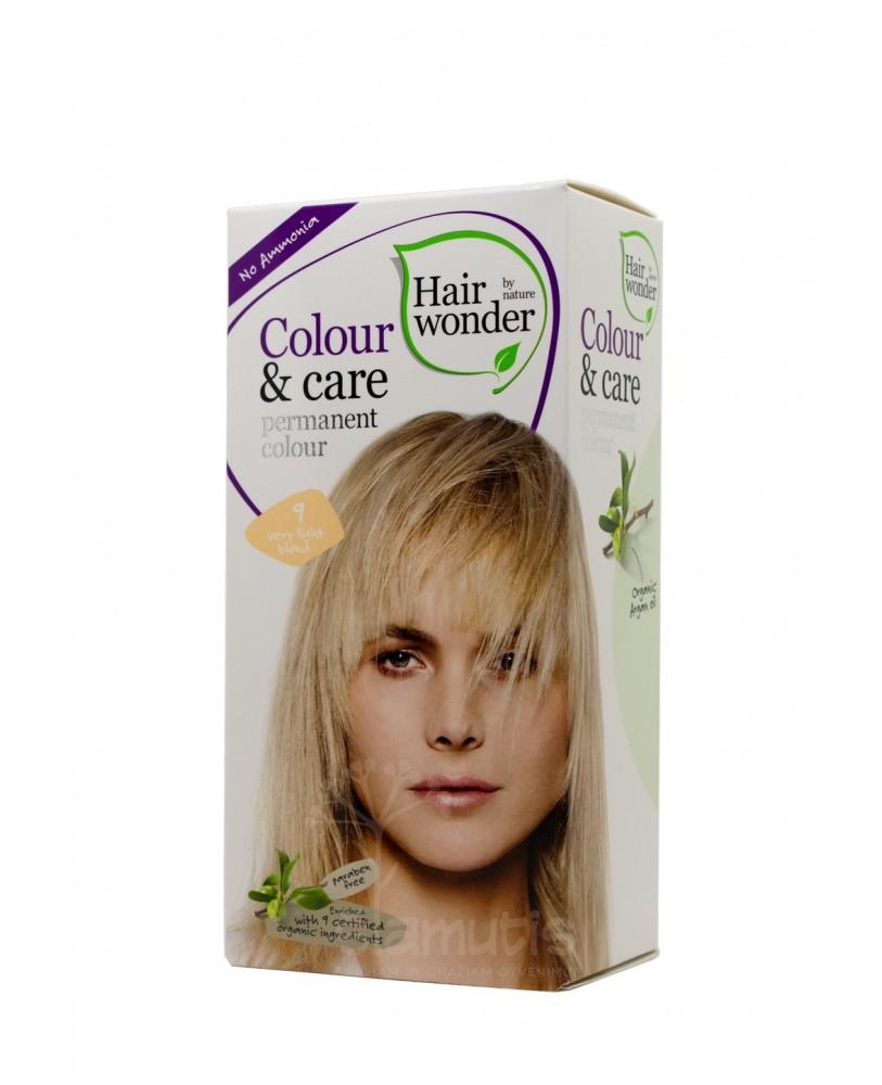 Plaukų dažai be amoniako Colour & Care spalva labai šviesi blondinė 9