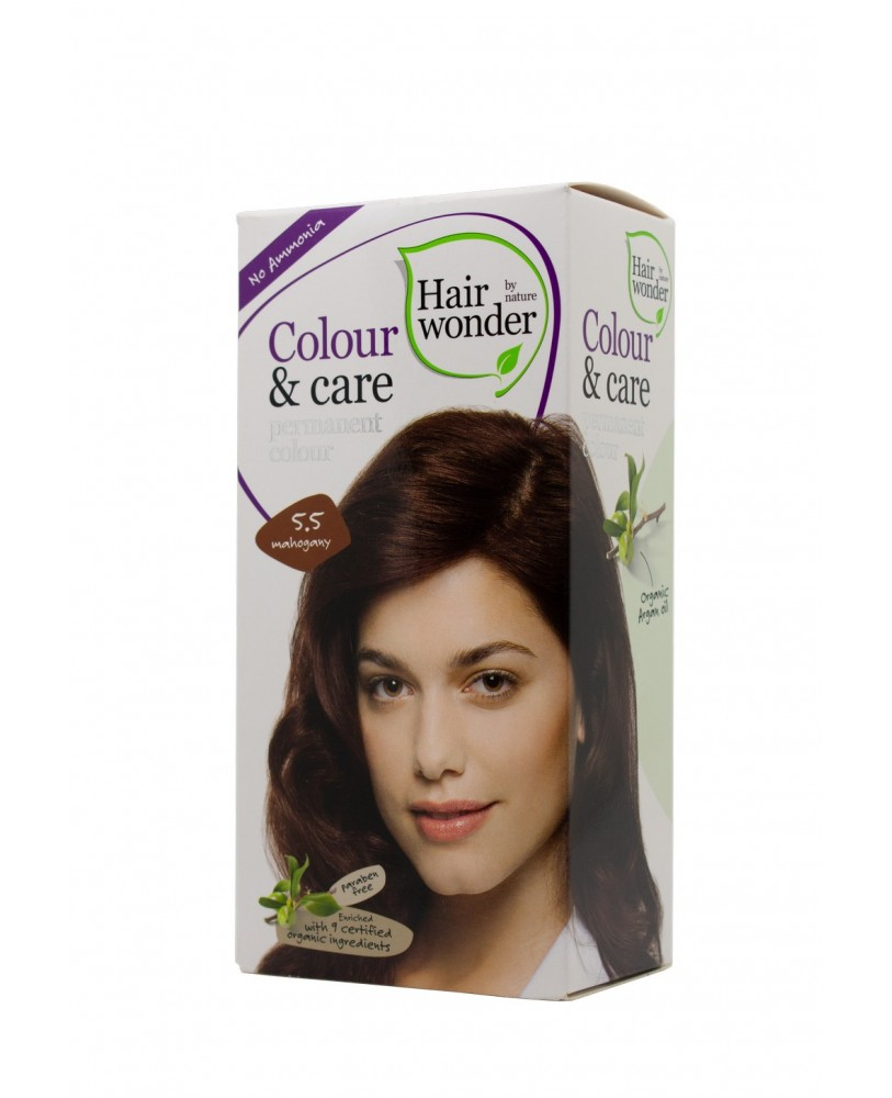 Plaukų dažai be amoniako Colour & Care spalva raudonmedžio 5.5