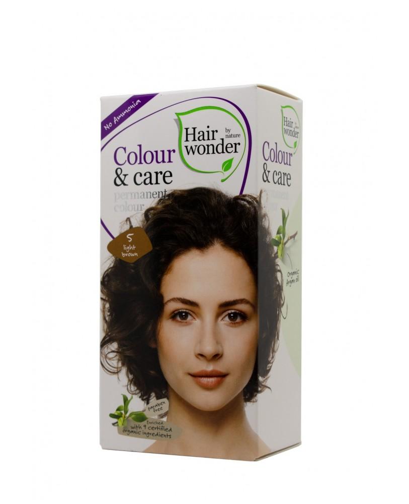 Plaukų dažai be amoniako Colour & Care spalva  šviesiai ruda 5 <span>+ DOVANA</span>
