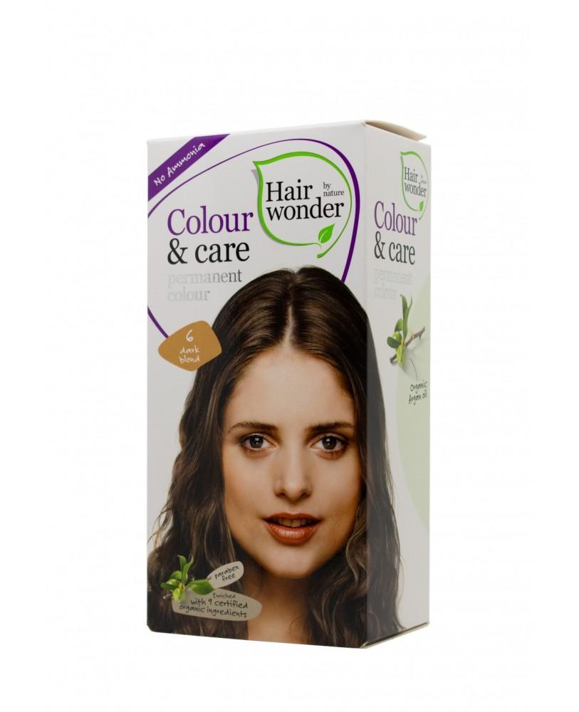 Plaukų dažai be amoniako  Colour & Care spalva tamsi blondinė 6