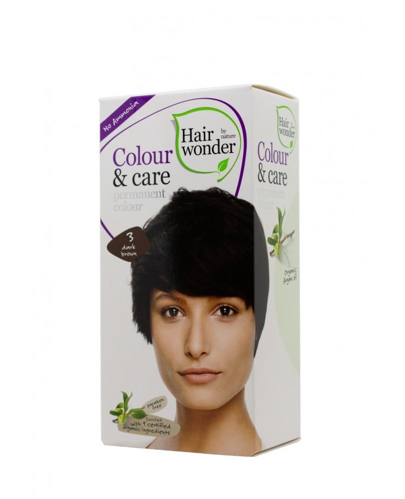 Plaukų dažai be amoniako Colour & Care spalva tamsi ruda 3 <span>+ DOVANA</span>