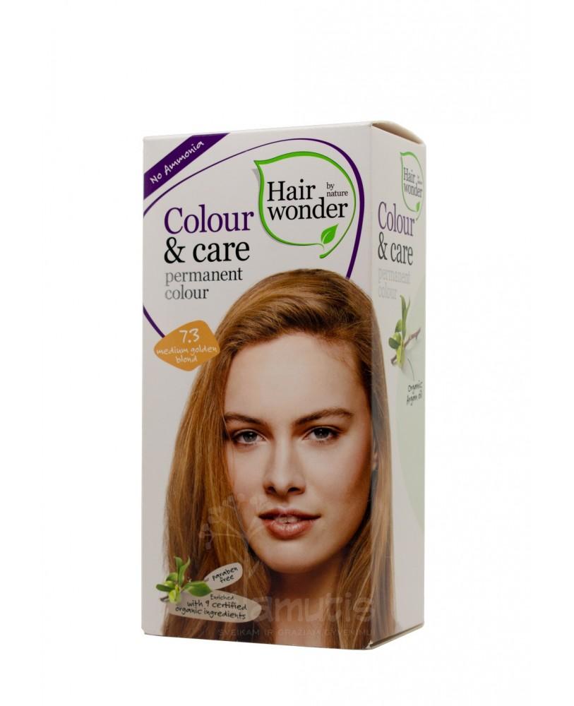 Plaukų dažai be amoniako Colour & Care spalva  vidutinė aukso blondinė 7.3