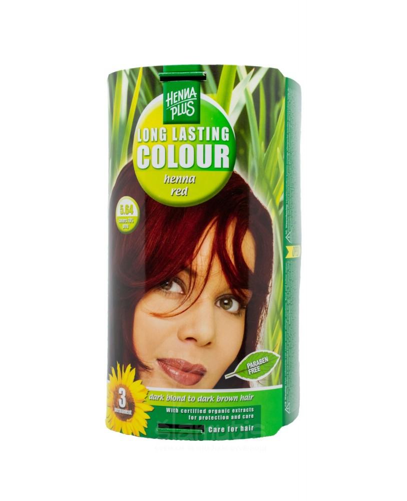 Hennaplus plaukų dažai ilgalaikiai spalva henna raudona 5.64