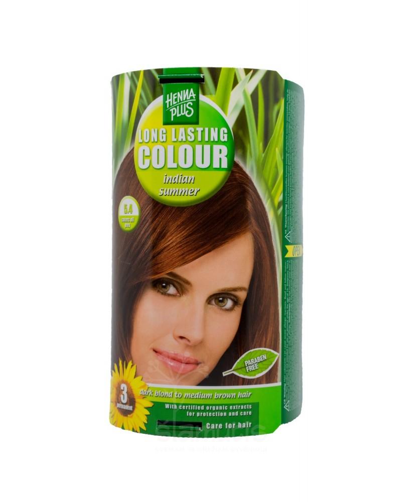 Hennaplus plaukų dažai ilgalaikiai spalva Indijos vasara 5.4
