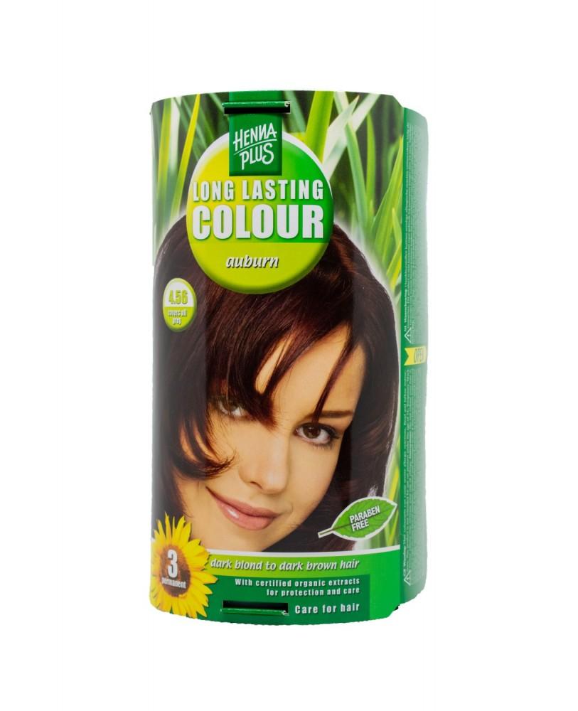 Hennaplus plaukų dažai ilgalaikiai spalva kaštono 4.56