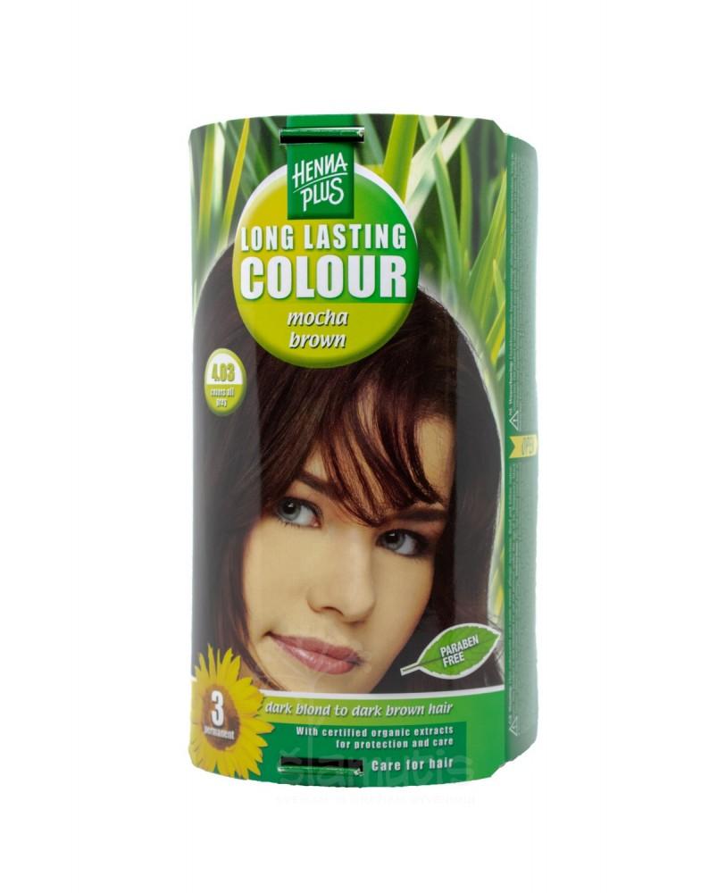 Hennaplus plaukų dažai ilgalaikiai spalva kavos ruda 4.03