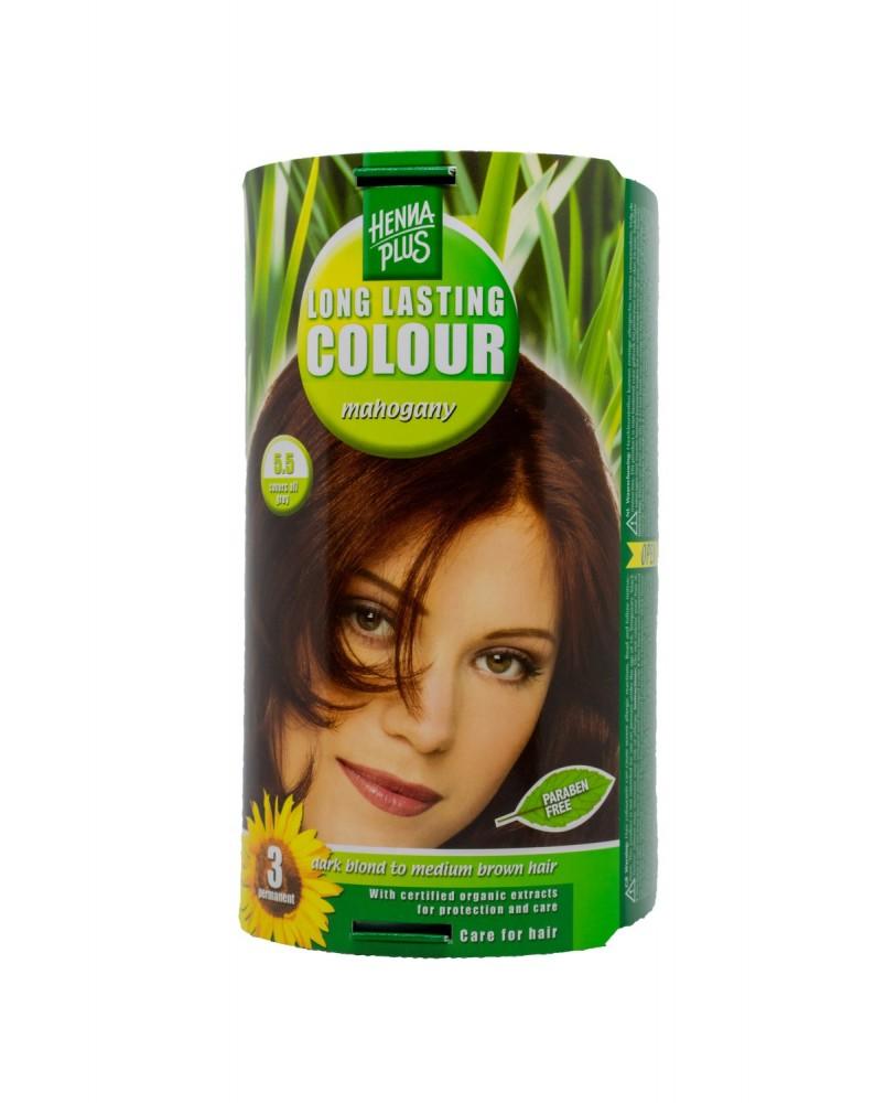 Hennaplus plaukų dažai ilgalaikiai spalva raudonmedžio 5.5