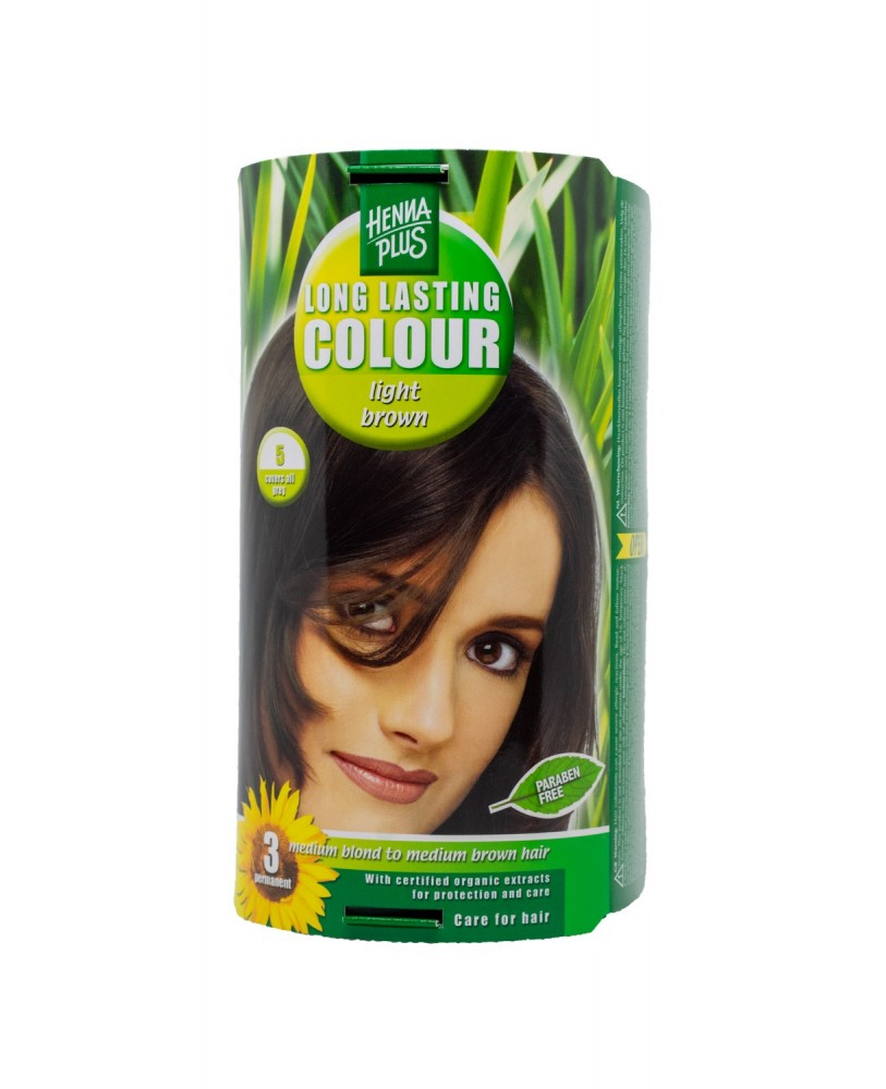 Hennaplus plaukų dažai ilgalaikiai spalva šviesi ruda 5 <span>+ DOVANA</span>
