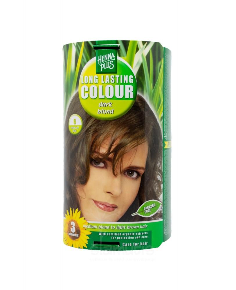 Hennaplus  plaukų dažai ilgalaikiai spalva tamsi blondinė 6
