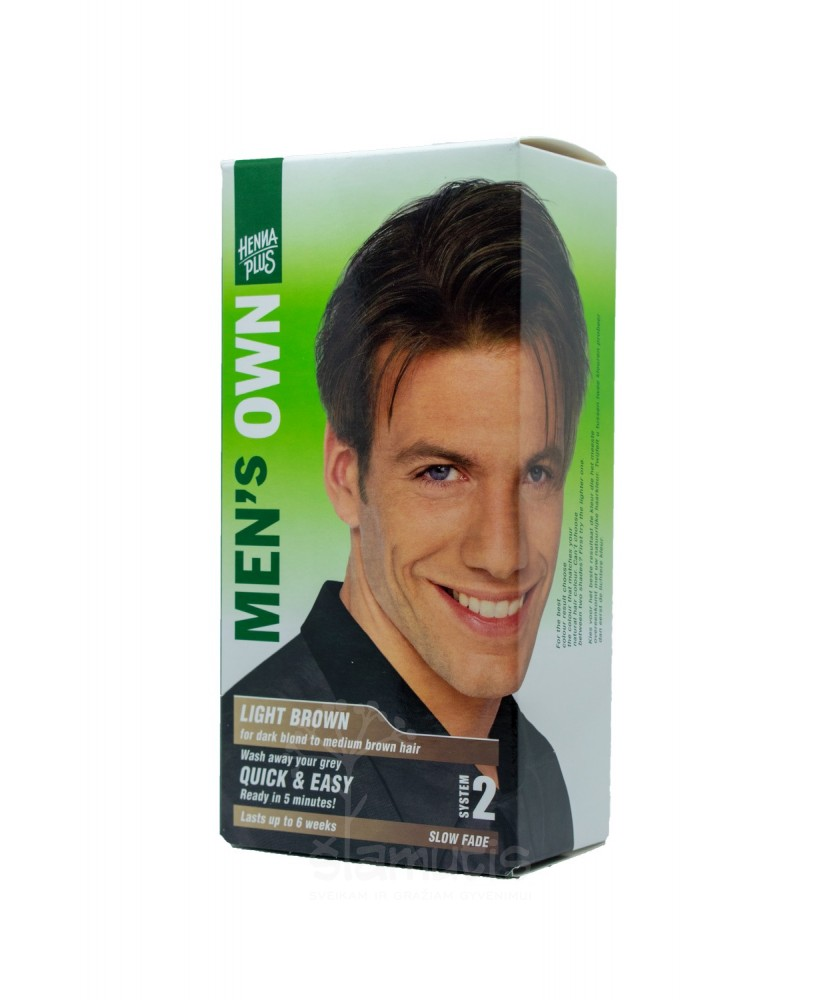 Hennaplus plaukų dažai vyrams MEN's OWN spalva šviesiai rudas