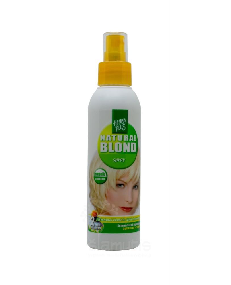 Purškiamas plaukų šviesintojas su ramunėlėmis Hennaplus Camomile Blondspray